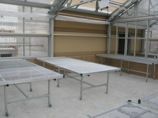 Nexus Greenhouse Systems Fixture Retail Display Benches